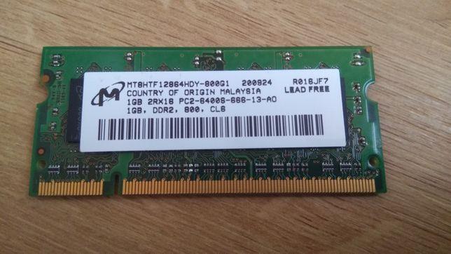 1GB. SoDIMM DDR2 800 Ghz. Оперативная память для ноутбука