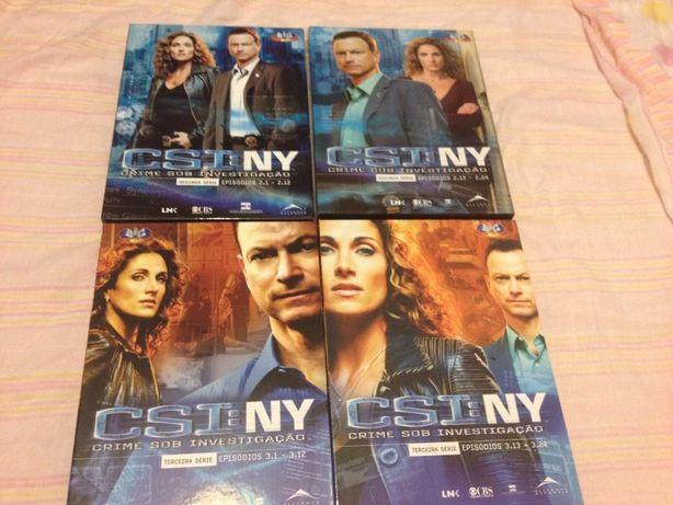 DVDs série ''CSI NY'' 2ª e 3ª temporada