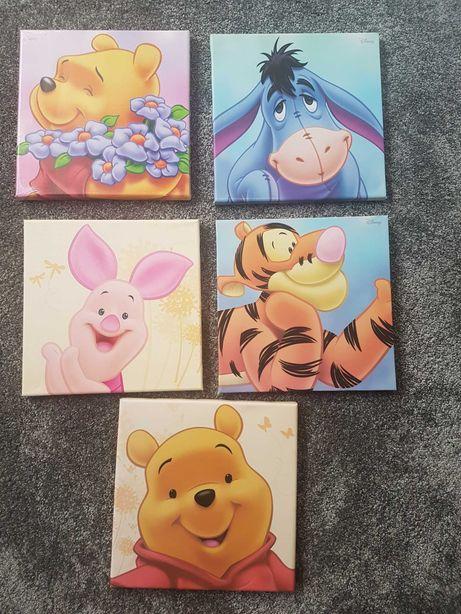 Obrazki na płótnie Disney Kubuś Puchatek i Przyjaciela 25x25