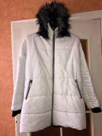 Зимняя куртка белая, размер XL