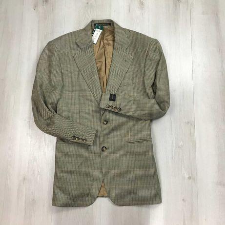 NEW M Пиджак приталенный винтажный шерстяной M&S новый с биркой