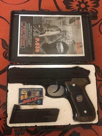 Пистолет Beretta на пульках,в кейсе,коллекционный,полный комплект.