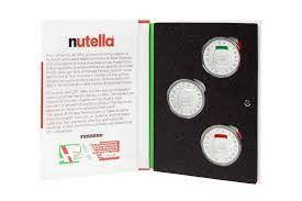 Moedas Itália prata Conjunto trio Nutella/ Vespas e Olivetti