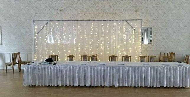 Ozdobna ścianka weselna led