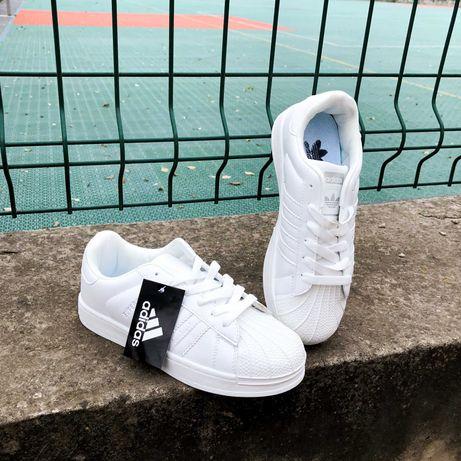 Кроссовки чисто белые Adidas Superstar All White
