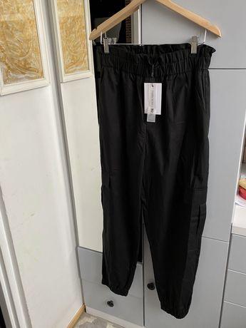 Czarne spodnie bojówki only bershka h&m high waist xl