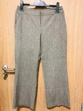 Spodnie DOROTHY PERKINS w prązki szare jodełka r. 38 śliczne