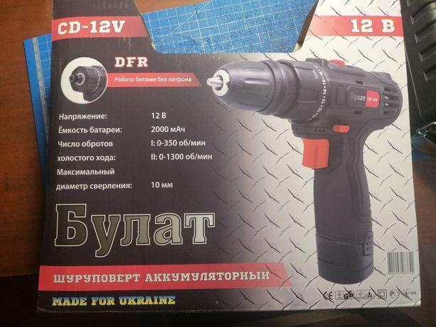 """Шуруповерт """"Булат CD-12V"""" с DFR патроном"""