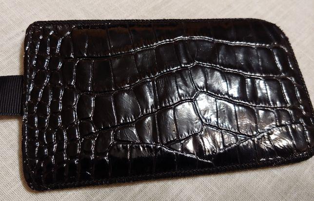 Кожаный чехох-кармашек для смартфона Samsung Galaxy S4 Black оригинал.