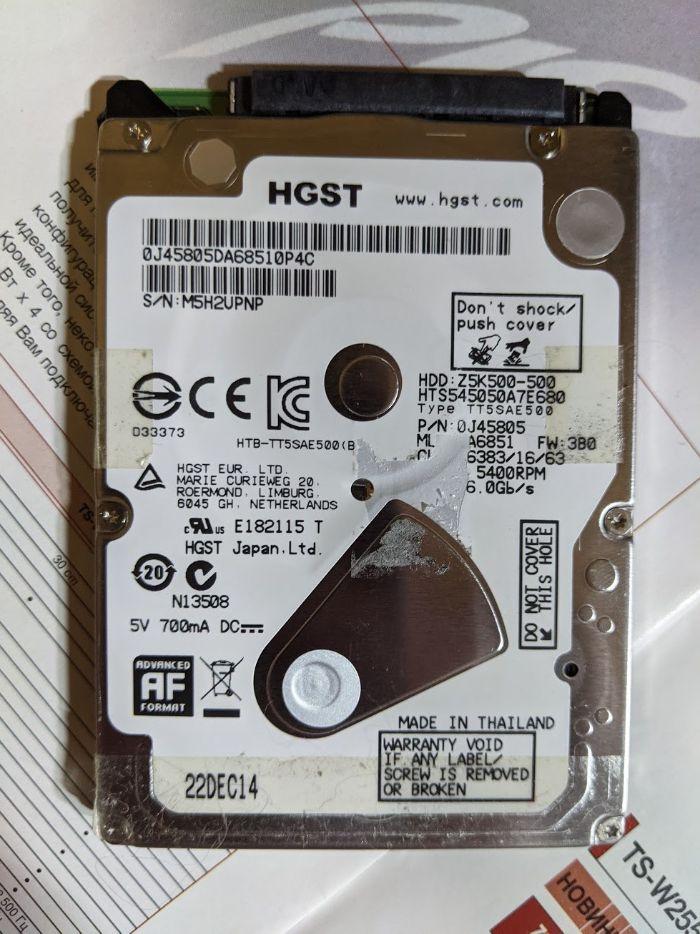 Жесткий диск HGST 500GB 2.5 Z5K500 Покотиловка - изображение 1