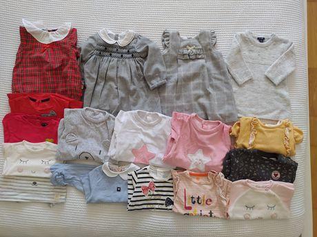 Conjunto/ lote de roupa bebé menina 3/6 e 6/9 varias marcas como nova