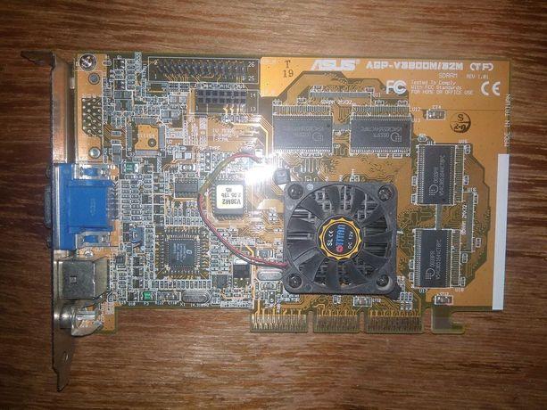 Видеокарта AGP ASUS Geforce2 mx V3800m 32mb