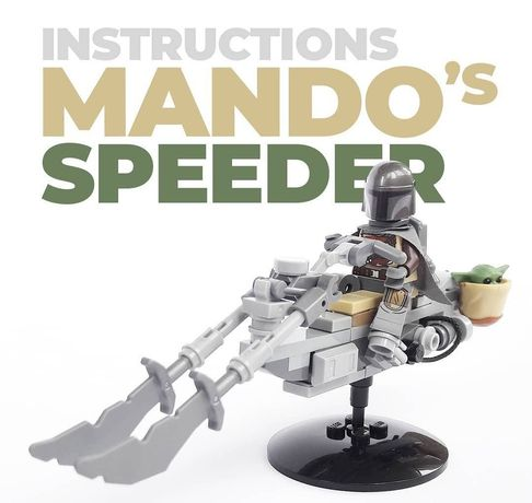 Lego Star wars Лего звездные войны mandalorian speeder instruction