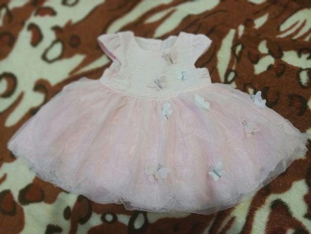 Платье на малышку 0-2 месяца