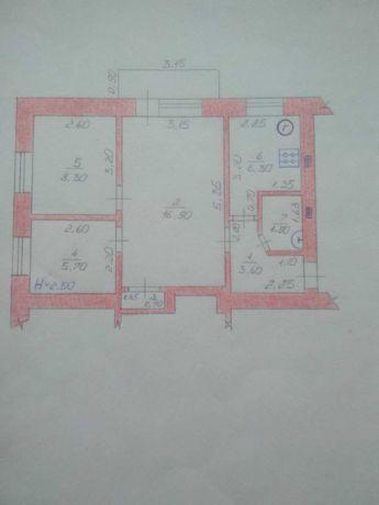 3-х комнатная квартира в центре Краснокутска