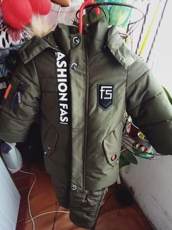 Зимняя курточка и комбинезон на 4 - 5 лет