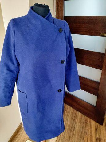 Granatowy płaszcz ciążowy jesienny wiosenny L