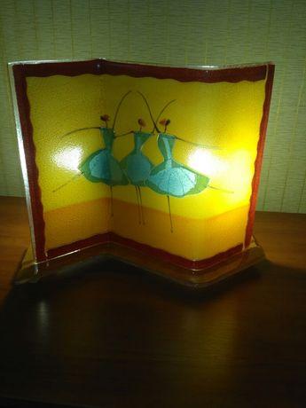 Светильник настольный, стеклянный, витражный продам или ОБМЕН