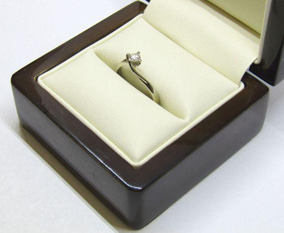 Pierścionek z białego złota z brylantem .::DELTA::.
