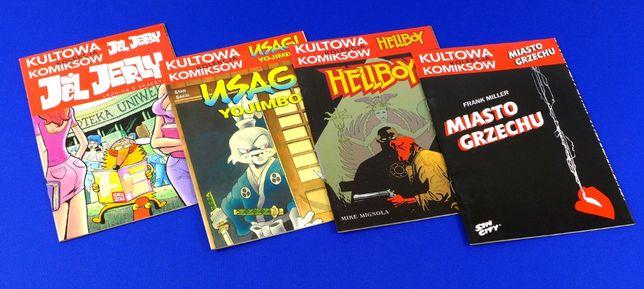 Kultowa kolekcja komiksów (Jeż Jerzy, Usagi, Hellboy, Sin City) 4 tomy