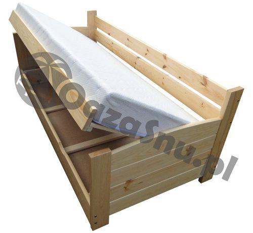 łóżko mega MOCNE otwierane na bok z pojemnikiem 3 oparcia VIP 90x200