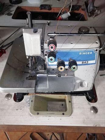 Máquina costura corte cose