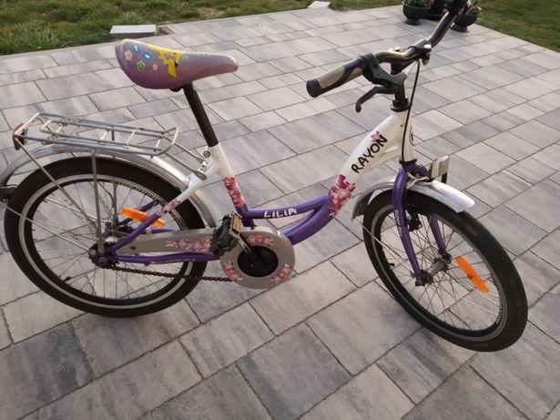 Fioletowy Rower dla dziecka Rayon Lilia 20 cali