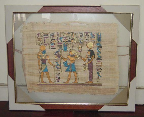 Quadro de Papiro Egípcio emoldurado com Vidro Duplo