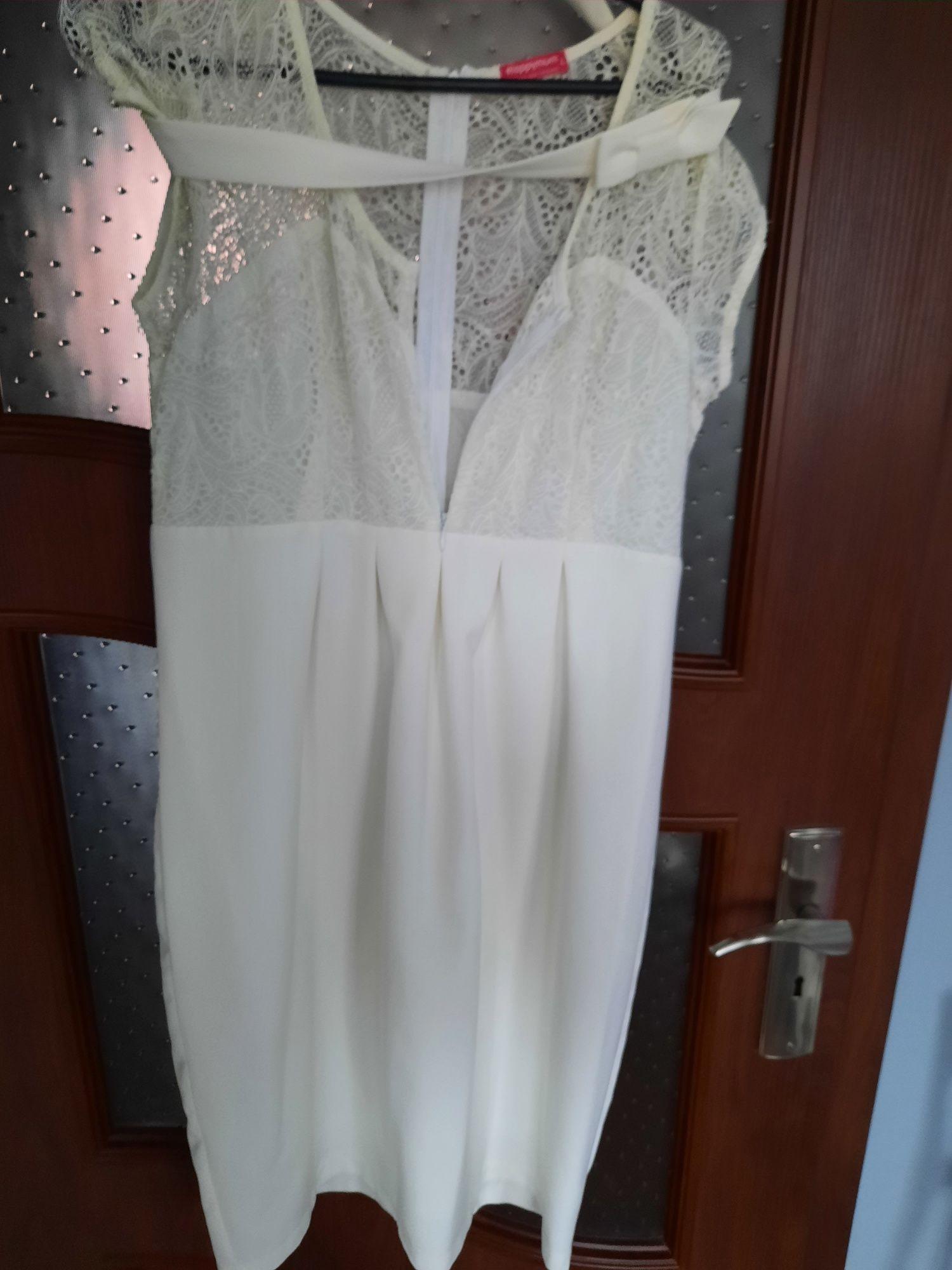 Sukienka biała do karmienia rozmiar L