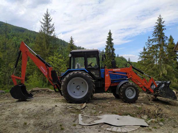 Трактор Беларус-892, МТЗ екскаватор-погружчик