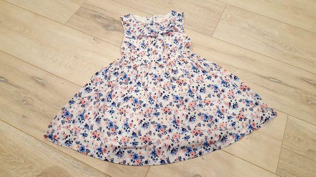 Sukienka w kwiaty roz 98