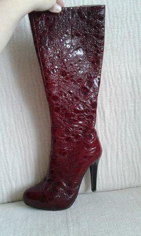 Чоботи чобітки шкіра Сarlabei сапоги сапожки кожа обмін обмен