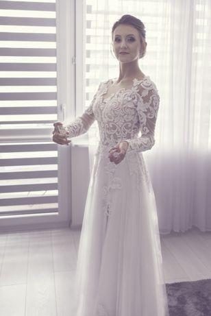 Piękna Koronkowa Suknia Ślubna !!!
