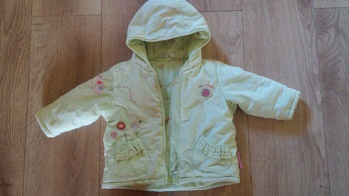 jak nowa jesienna ocieplana kurtka dla dziewczynki bawełna rozm. 68 74 Kaliłów - image 1