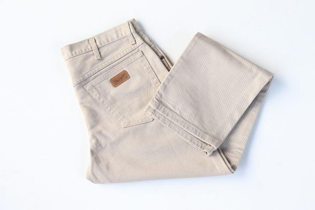 Spodnie męskie jeansy WRANGLER Texas. Beżowe. W34 L30. Idealny stan