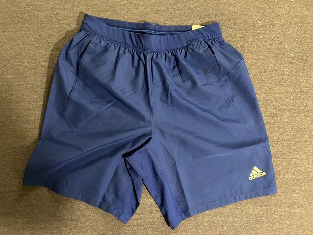 Adidas krótkie spodenki męskie nowe niebieskie rozmiar M