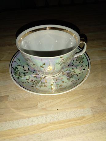 Чайная чашка фарфоровая