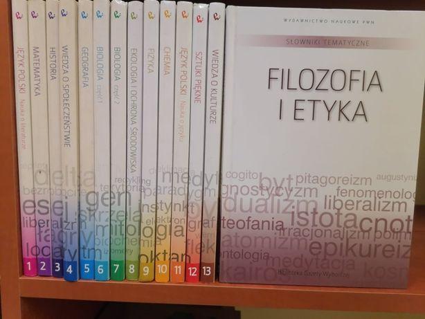 Słownik tematyczne PWN 14 tomów komplet