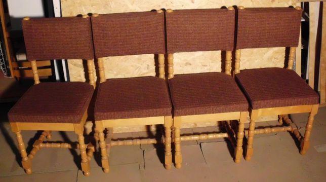 Krzesła bukowe tapicerowane 6szt.