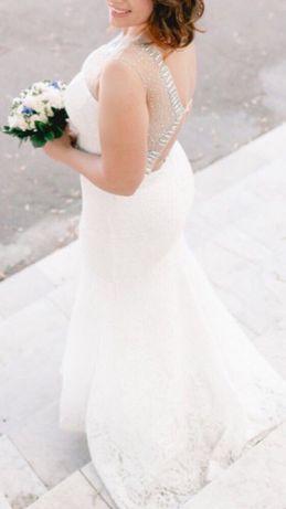 Свадебное платье айвори рыбка или на мероприятие 50-52 р-р