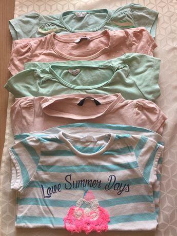 Bluzeczki komplet/ paka dla dziewczynki 92