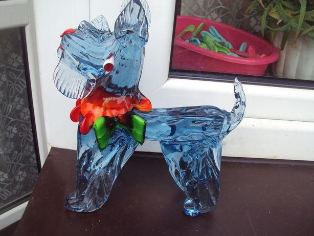 szklany duży pies design szkło artystyczne 2800 gr