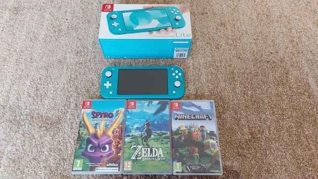 Nintendo switch lite z grami