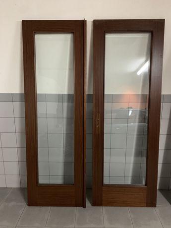 Porta interior em Mogno + Vidro