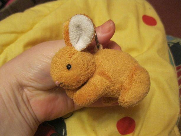 мягкая игрушка заяц кролик на кольце плюшевая маленькая