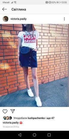джинсовая юбка на кнопках