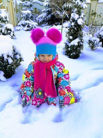 Зимний комбинезон deux par deux 30m шапочка на флисе натуральный мех