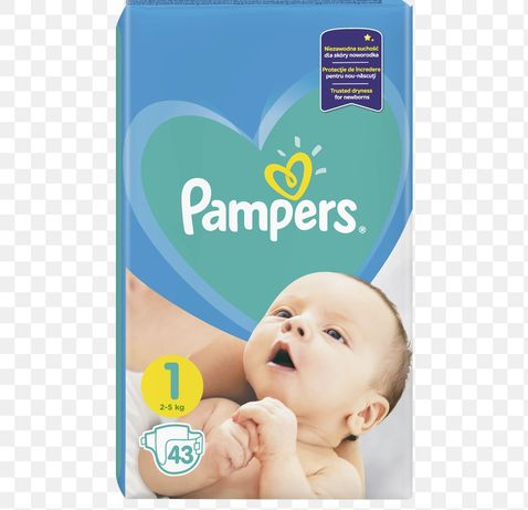 Pampers Active Baby 1, półtorej paczki