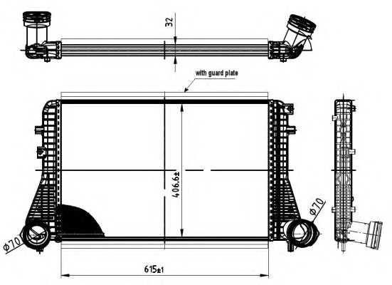 Радіатор інтеркулера VW Caddy 1.9 TDI