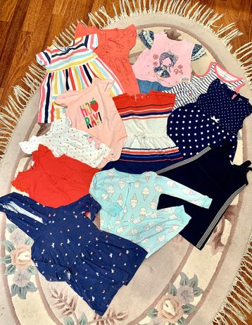 Набор летних детских вещей 12-18 месяцев Carter's h&m